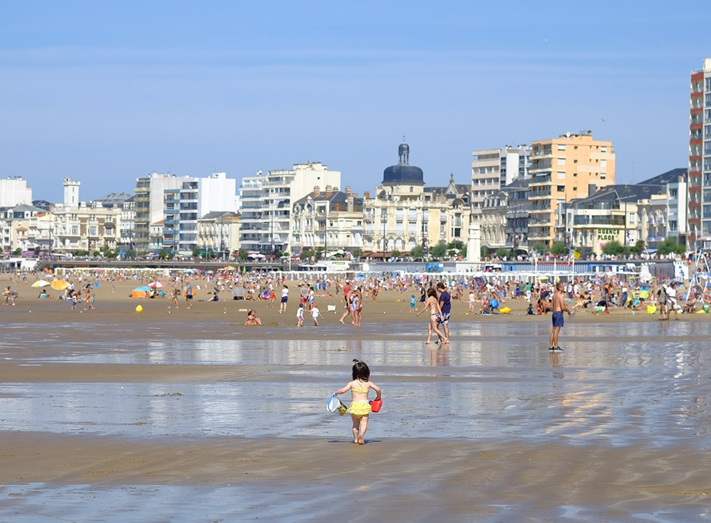 beach in les sables dolonne west france
