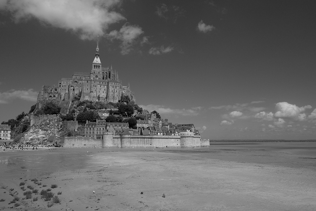 Mont Saint Michel low tide north france