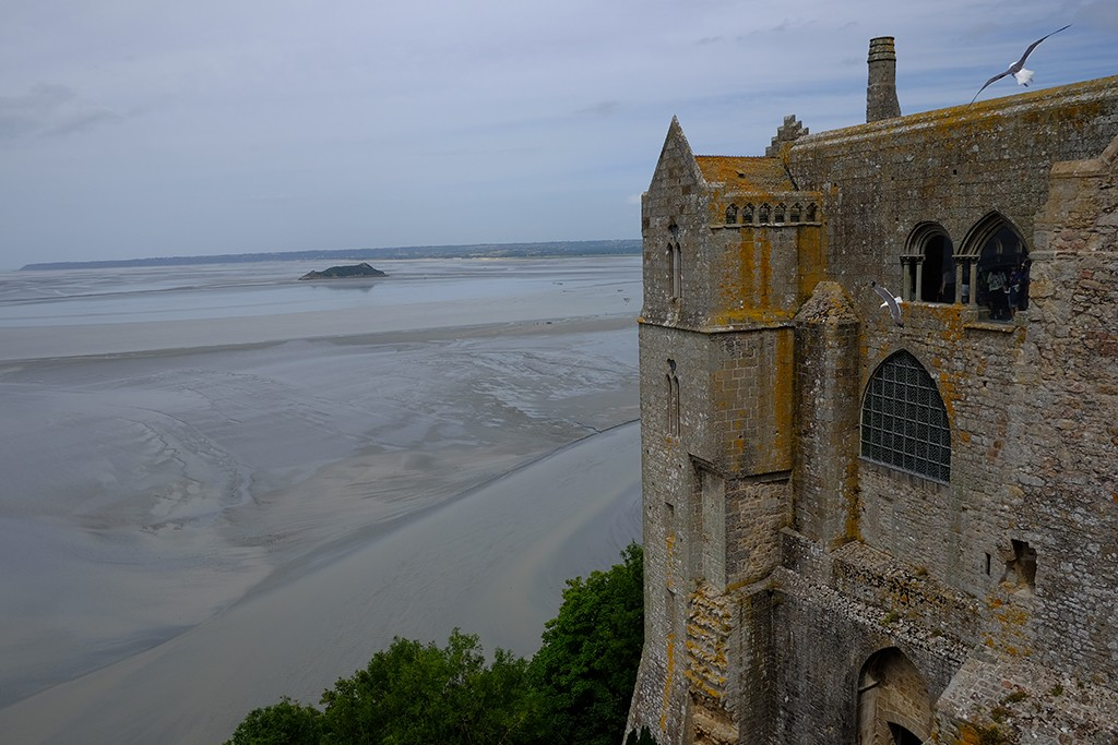 a view from mont saint michel france