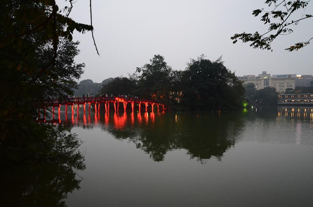Hoan Kiem Lake in Vietnam