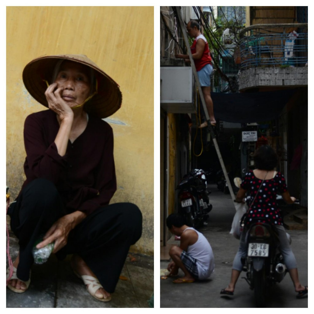 Hanoi'den klasik sokak manzaralari