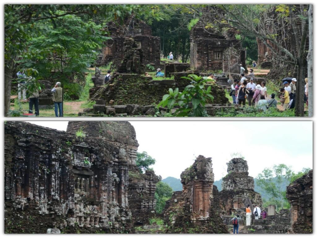 hindu temples ruins in my son vietnam