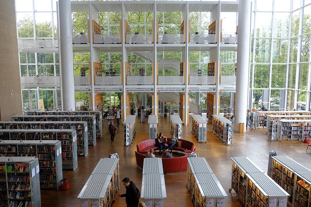malmo city library in sweeden