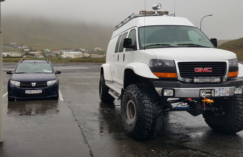 huge vehicle GMC in iceland