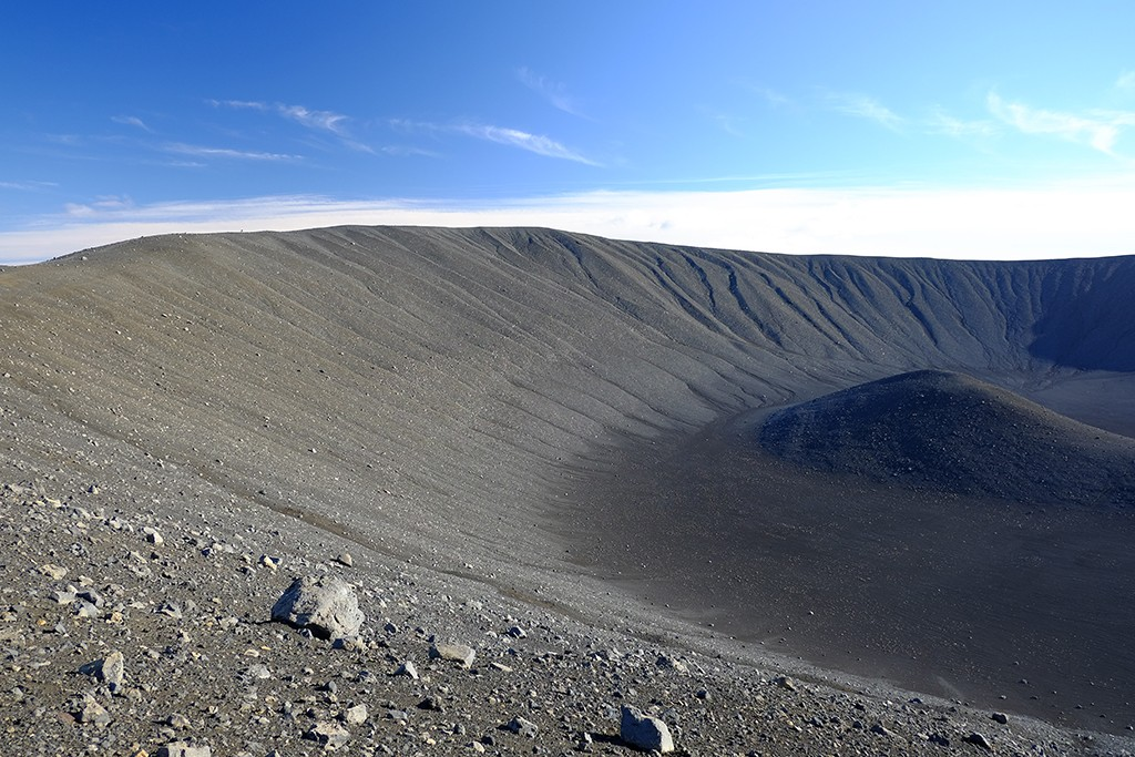 hverfjall crater on the top north iceland