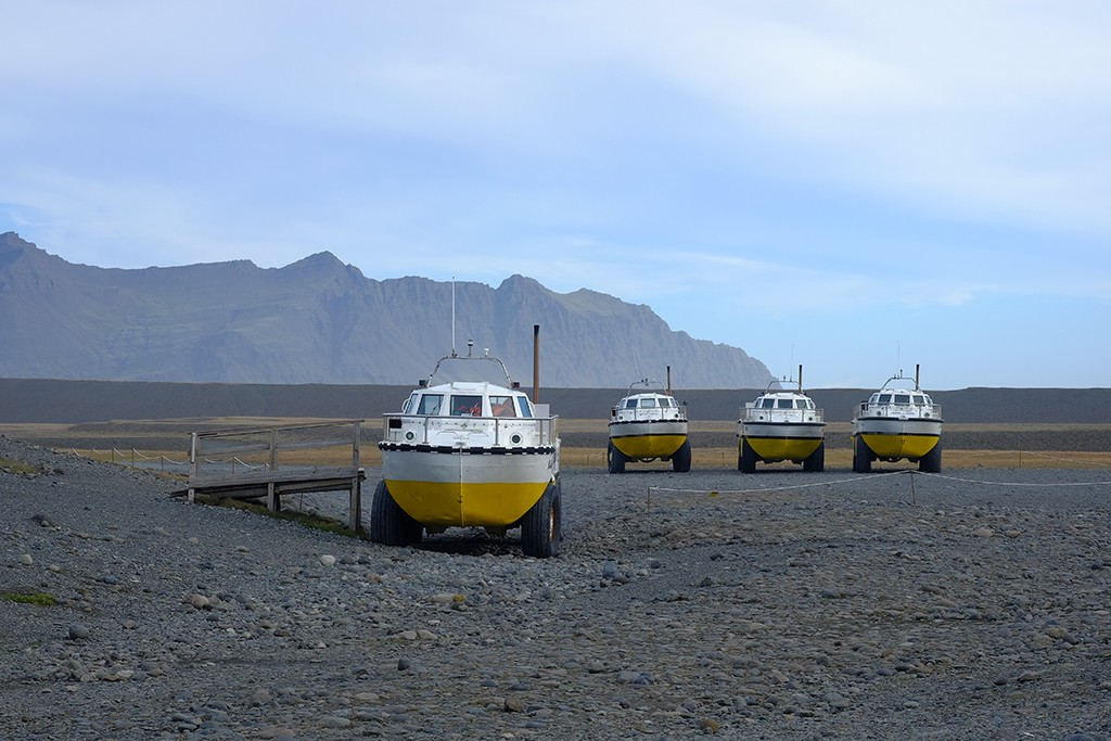 boats near jokulsarlon glacier south iceland
