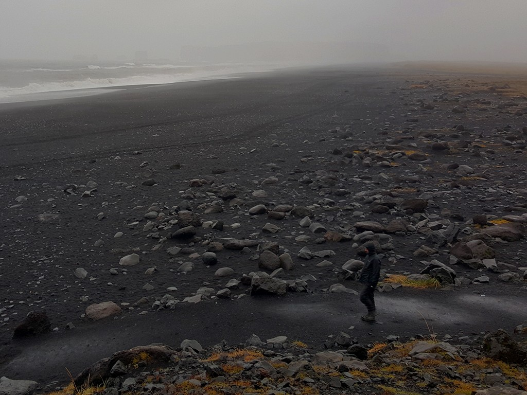 dyrholaey and black beaches in south iceland