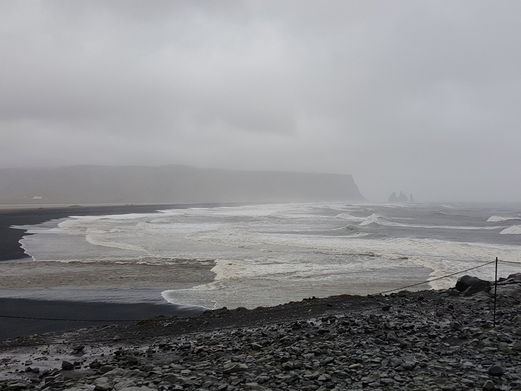 Dyrholaey beach in south iceland