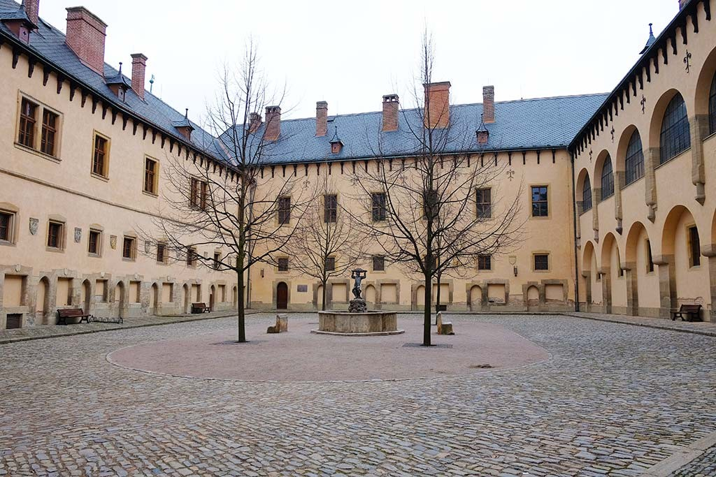 italian court in kutna hora city