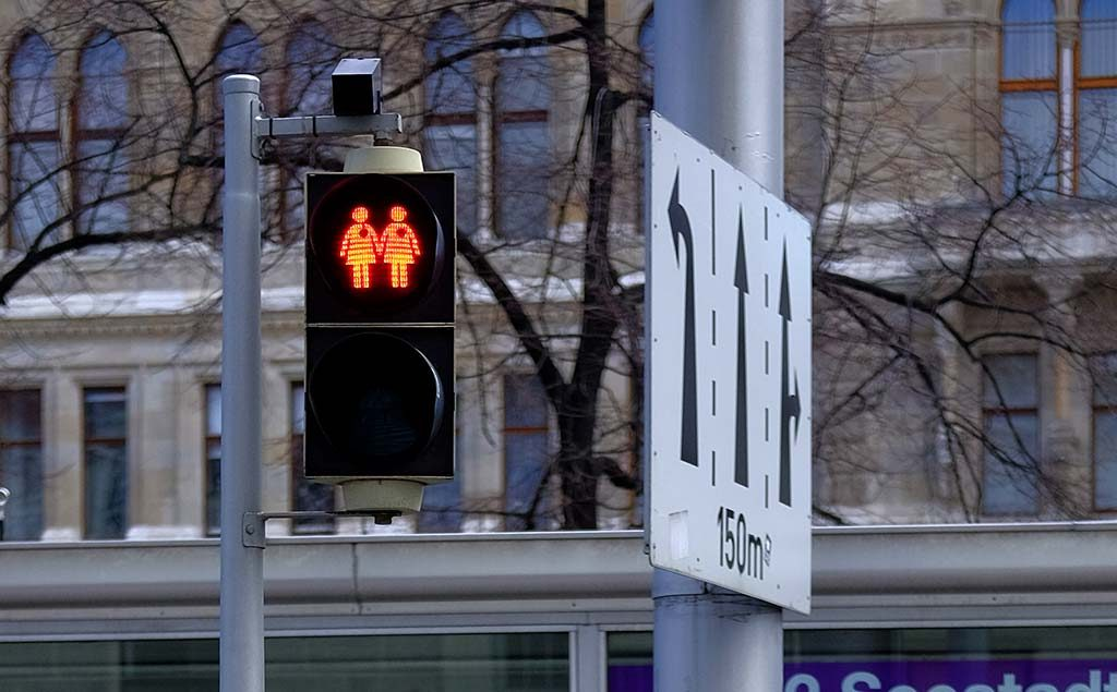 vienna gay traffic signs