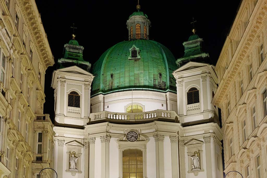 dome of st. peters church in vienna