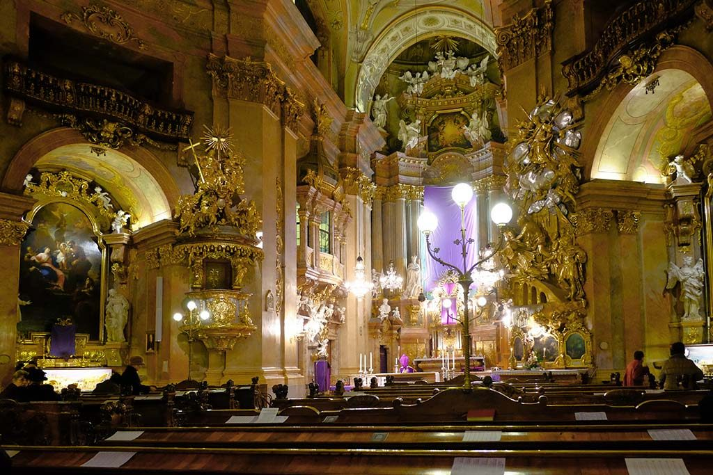 interior of st. peters church in vienna